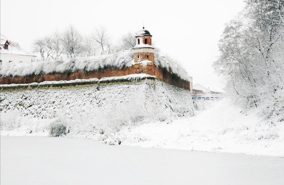 Дубненская крепость зимой