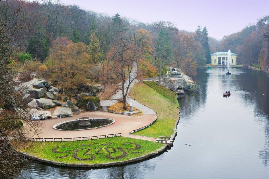 Дендропарк Софиевка, вид сверху