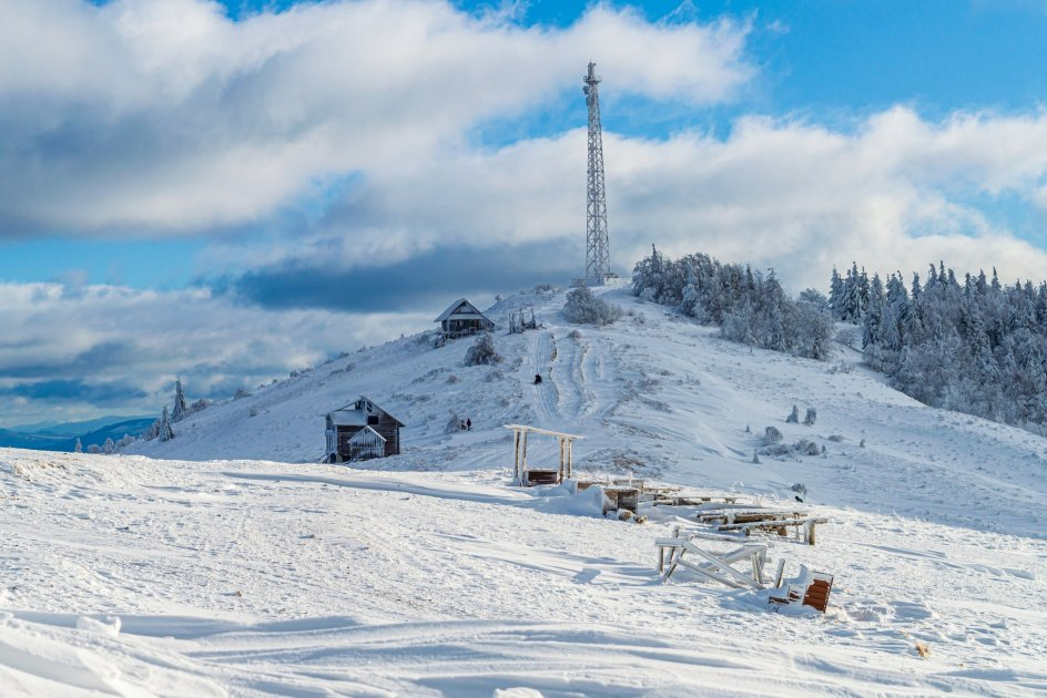 Гора Захар Беркут зимой