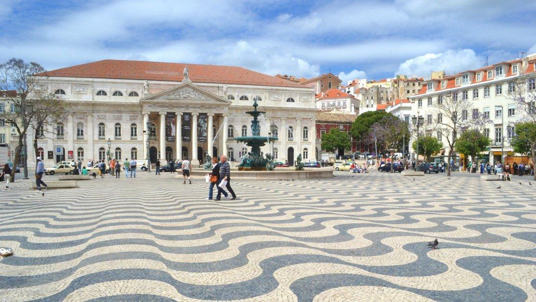 Площадь Россио - лиссабон