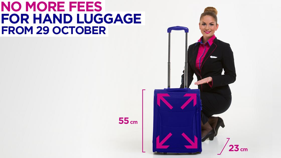 Wizz Air отменяет плату за провоз большой ручной клади