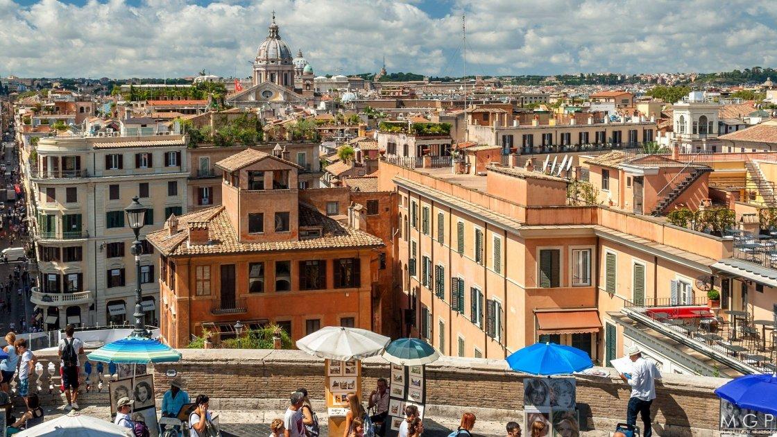 Рим, вид с церкви Тринита-деи-Монти