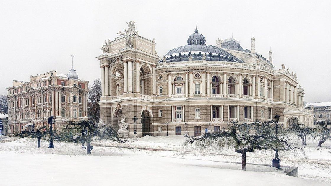 Одесса зимой, Украина