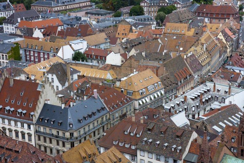 Страсбург, крыши домов