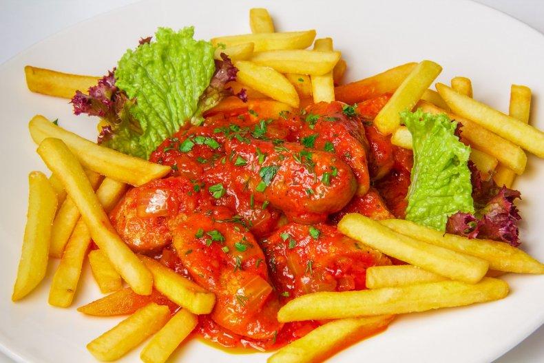 Немецкий Currywurst