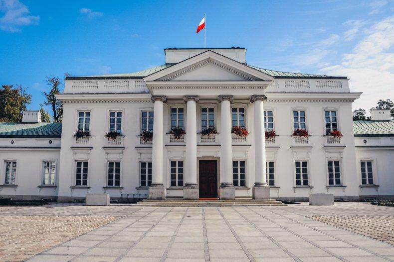 Бельведерский дворец в Варшаве