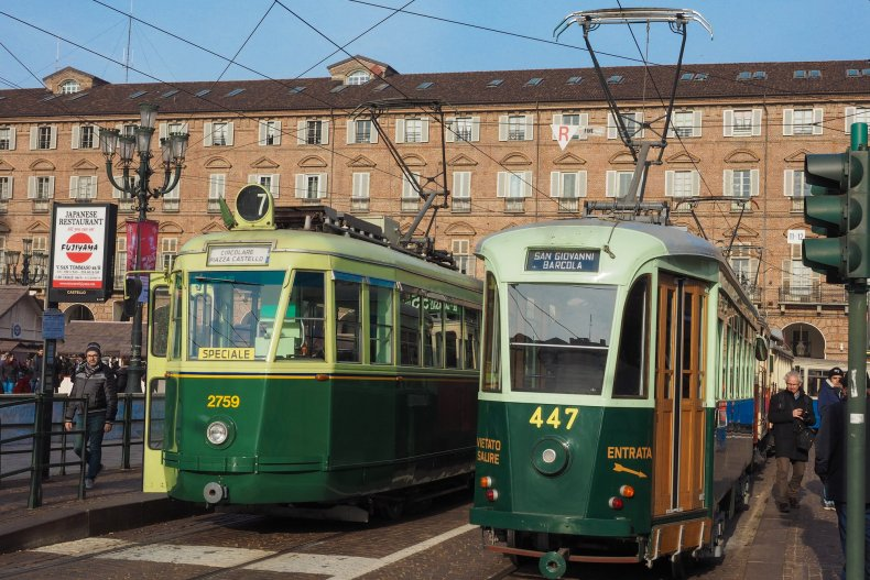Турин, Италия трамваи
