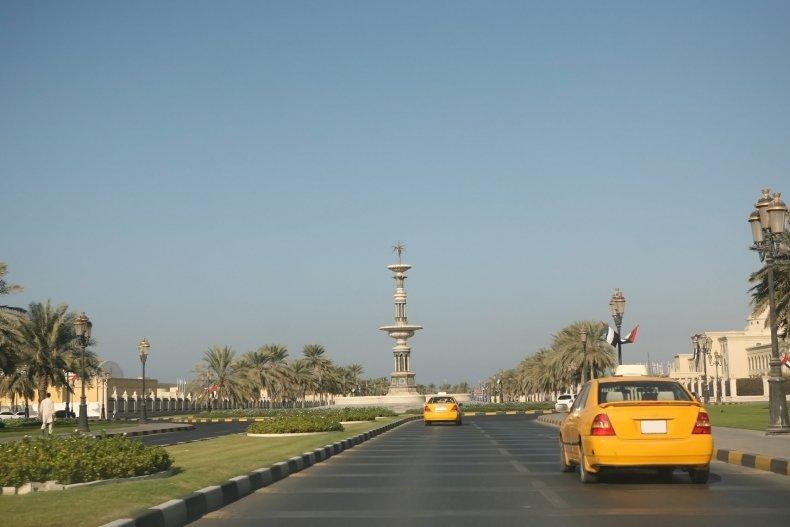 Главная дорога в Шарджа. ОАЭ