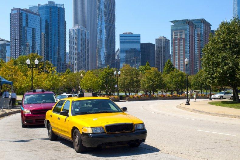 Стоянка такси на улицах Чикаго