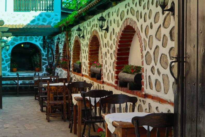 Традиционный болгарский ресторан интерьер