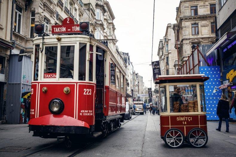 исторический трамвай, стамбул