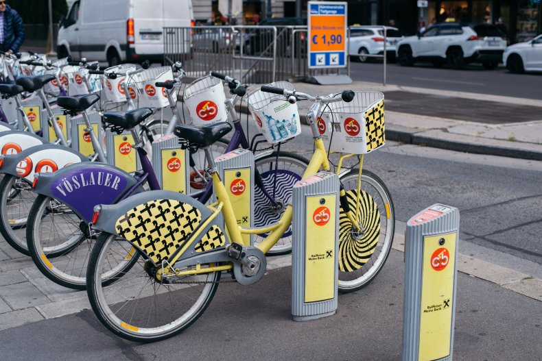 Вена с велосипедными док-станциями