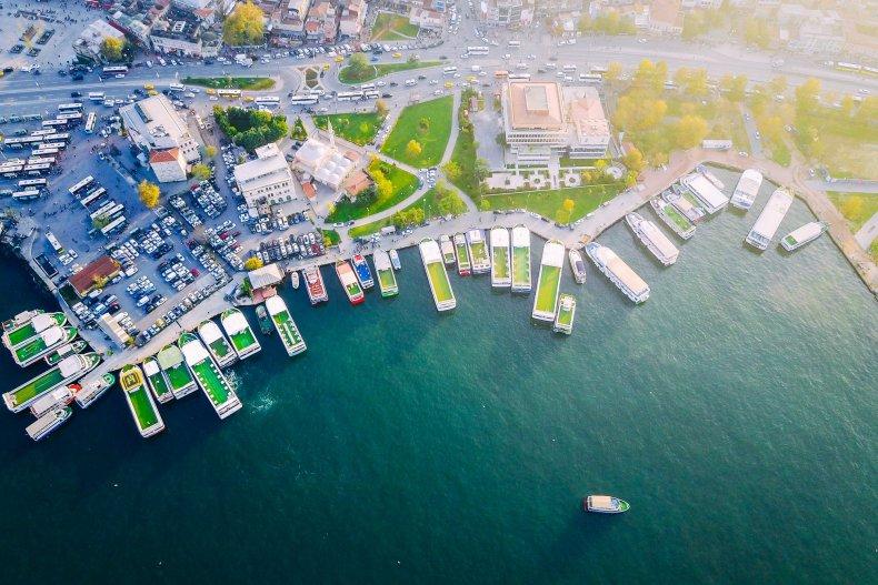 Стамбул вид сверху