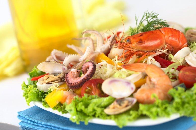 еда из морепродуктов в Канкуне