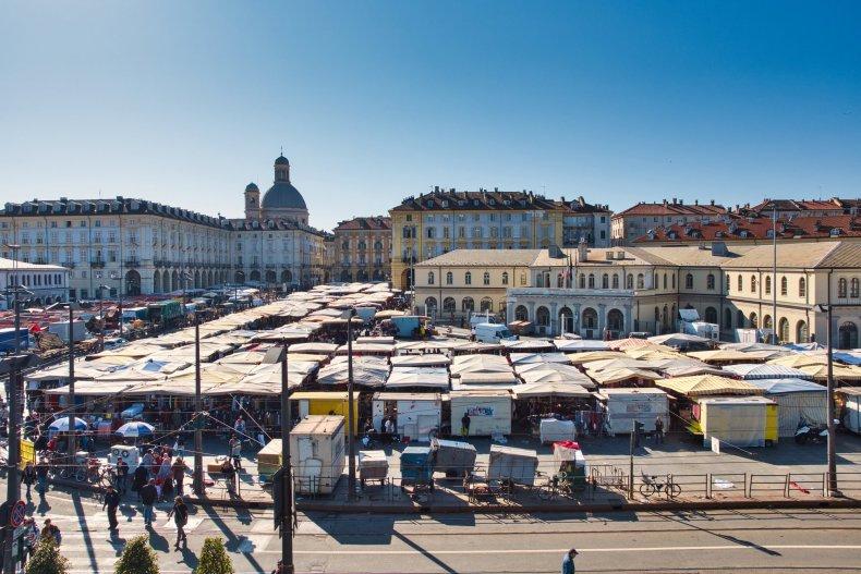 рынок под открытым небом Porta Palazzo