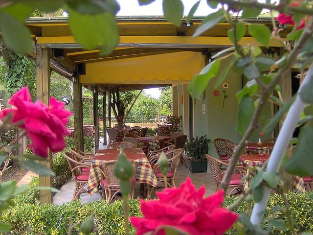 цветочное кафе на Сидари